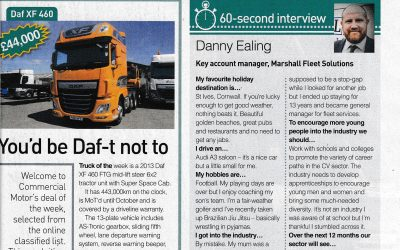 Guest appearance for MFS's Danny Ealing in 'Commercial Motor'
